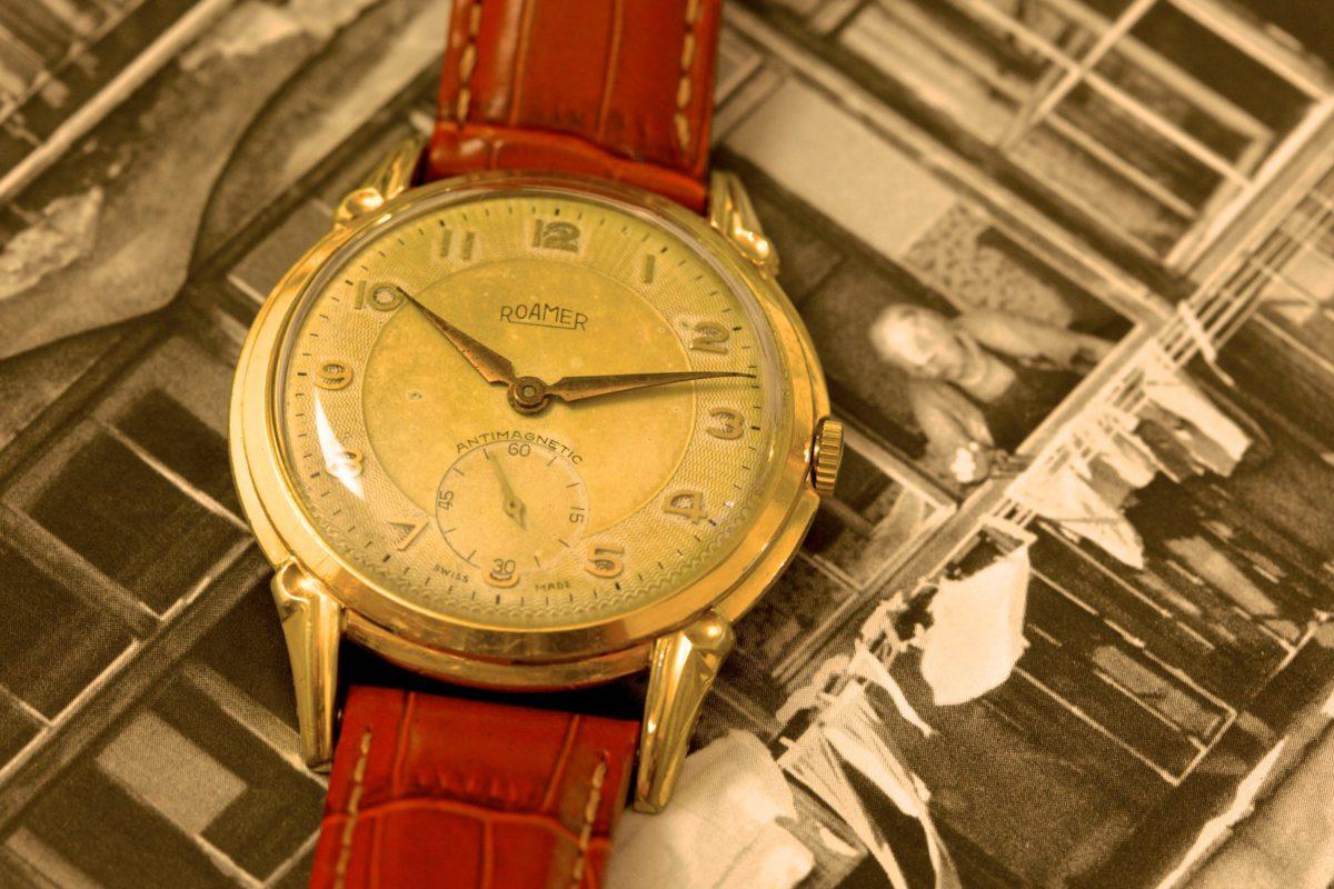 Secesní hodinky Roamer