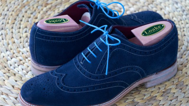 Loake Fearnley Navy Suede