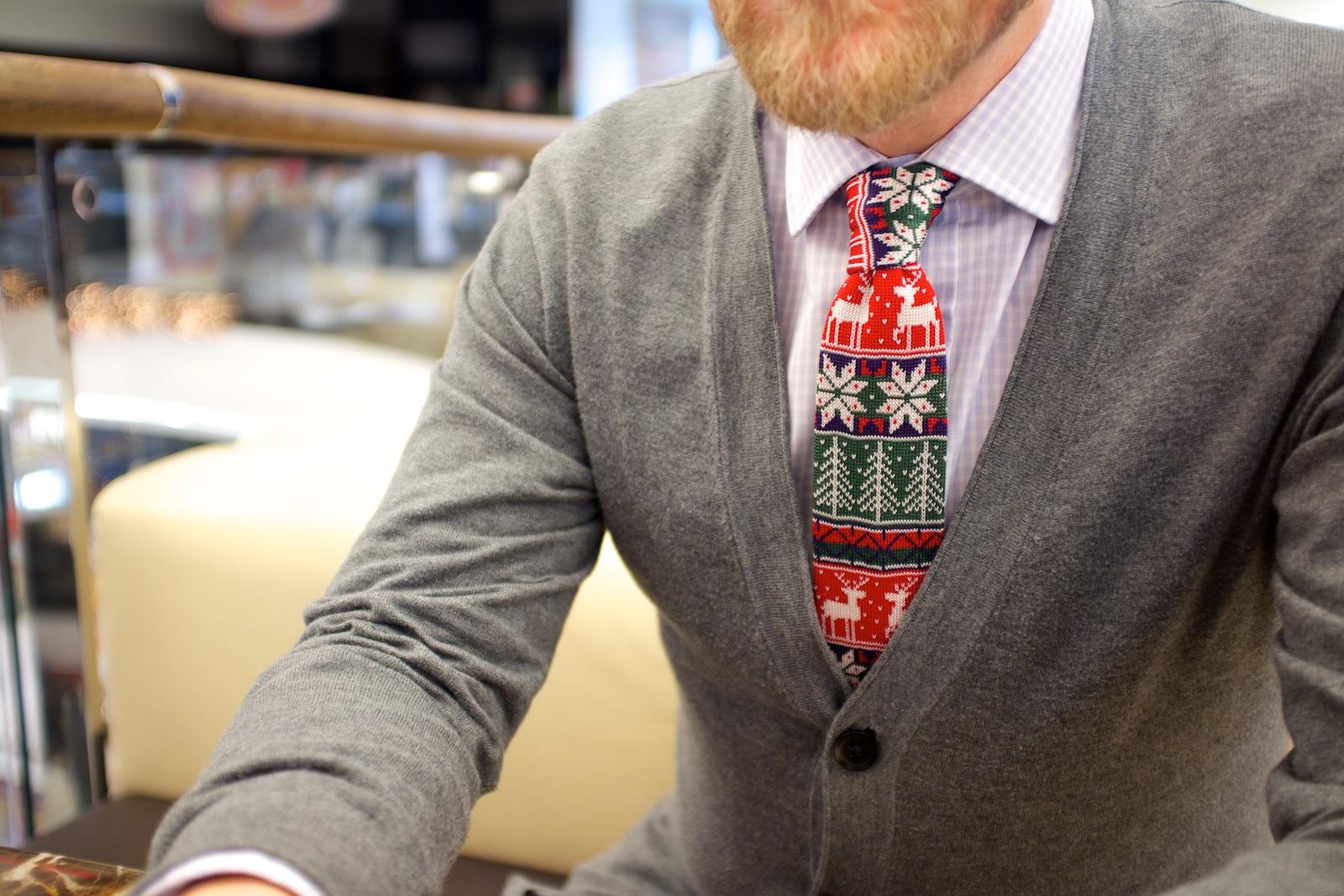 Vánoční kravata se soby
